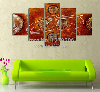 Handmade Paintings On Canvas Wall Art Abstract Picture Planets World Home Decoration For Living Room