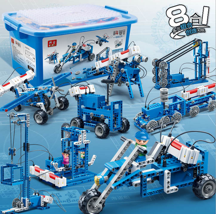 ФОТО Children Boy Toy 6901~03 BanBao Enlighten Gear Electric Power Generating Machine Building Blocks Set Educational DIY Bricks Toys