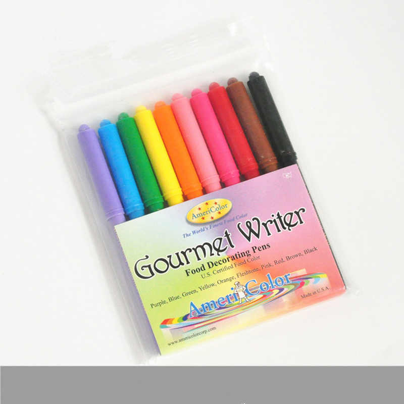 10 Pieces Americolor food color pen edible Glucose Cake Food Pigment Pen