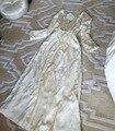 Alta Qualidade Pijamas De Seda das Mulheres Princesa Two-piece Set Camisola Robe Ternos Jacquard Real Pijamas Camisola roupa