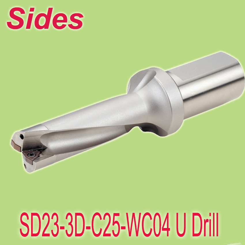 Free Shipping  Speedout Udrill Size 23mm W*69mm L Use WCMX040208 Drilling Inserts U Drill/Blind Hole Drill  free shiping u urill 18mm 72mm depth 4x t max u magic rapid drill blind hole making tool for spmg060204 drilling inserts