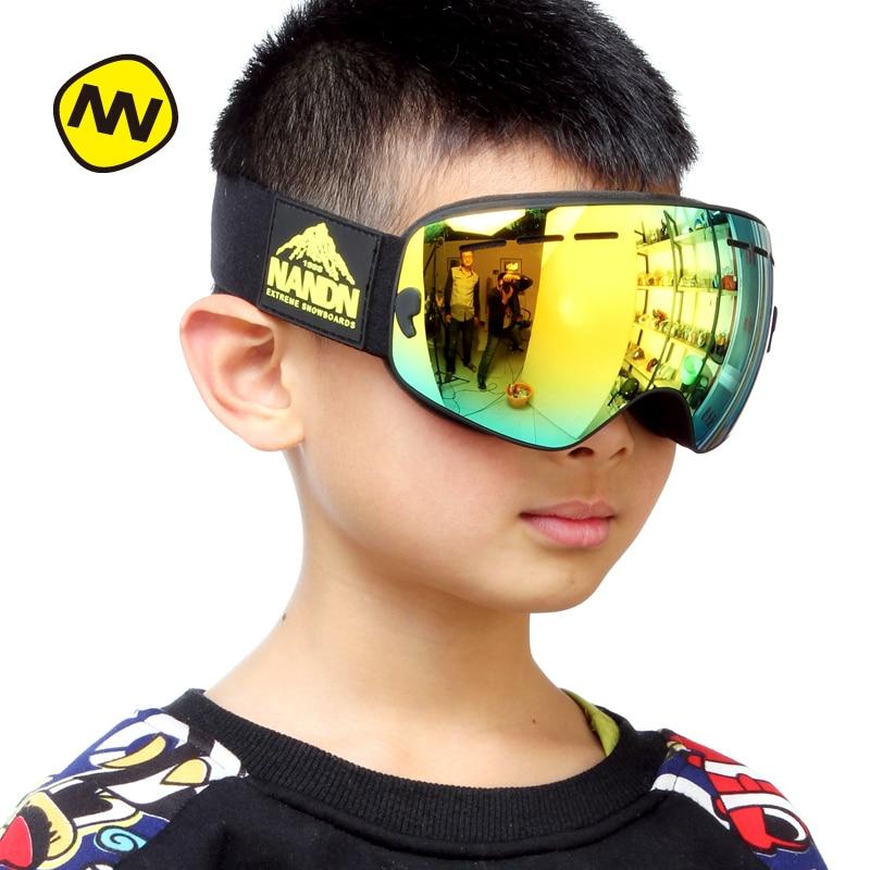 NANDN เด็กแว่นตาสกีปีนเขากลางแจ้งแว่นตาสกีส่วนตัว NG9