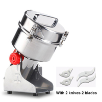 JamieLin Electric Food Grinders Swing Milling Machine 2000g Small Powder Grinding Automatic Home Commercial Flour Mill