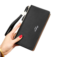 Fashion Long Clutch Hard PU Leather Wallet Women Luxury Brand Ladies Phone Hand Bags Womens Wallets and Purses Wholesale noJY11