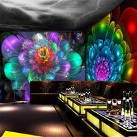 Beibehang papel de parede para 3D muur papier flash behang grote KTV bar ballroom naadloze Internet entertainment thema