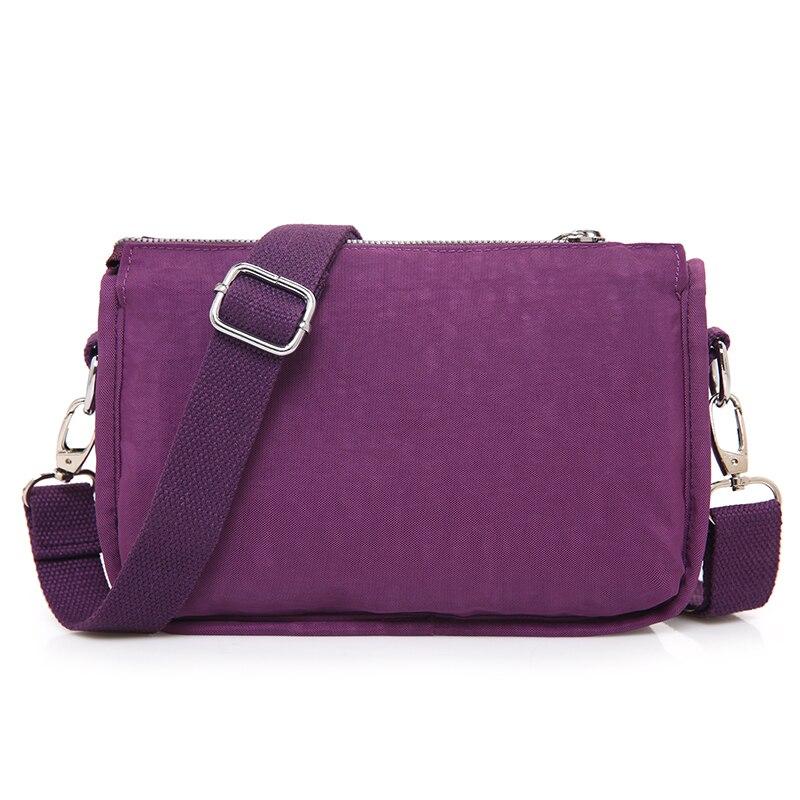 Waterproof Nylon Women Messenger Bags Small Purse Shoulder Bag Female Crossbody Bags Handbags Bolsa Tote Casual Clutch in Shoulder Bags from Luggage Bags