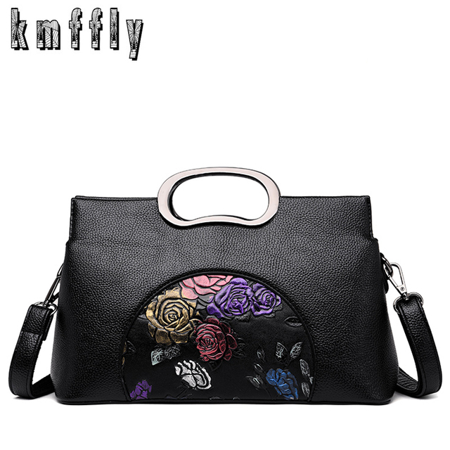 2cac8294412d 2018 Women Leather Handbags Vintage Painted Casual Tote Bags Designer Brand  Crossbody Shoulder Bag Ladies Hand Bag Sac A Main