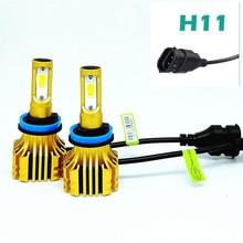 цена на LDDCZENGHUITEC COB Chips 72W/pair H4 Hi lo Beam H7 H11 LED Headlight Bulbs 8000LM 6500K 12v 24v Car Auto Headlamp Kits Fog Light