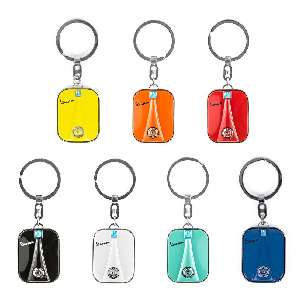 7 farben Edelstahl Keychain Schlüssel ring Roller Für Piaggio VESPA GTS GTV LX PX LT Sprint Primavera GTS300 150 250 schlüsselring
