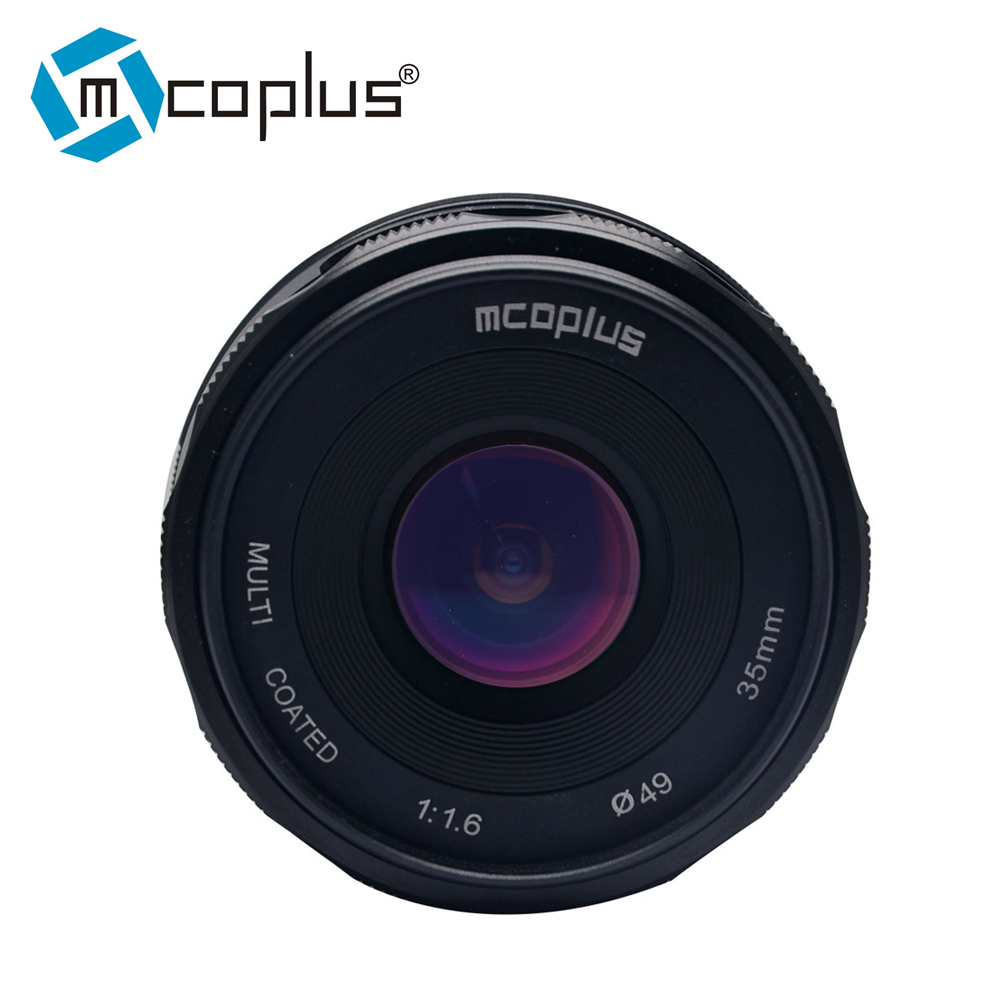 Mcoplus 35mm f1.6 APS-C Manual Fixed Lens for Sony E-mount A6500 A6300 A6000 A5100 A5000 NEX-3 NEX-3N NEX-5 NEX-5N A7 A7II A7R 35mm f1 6 cctv lens c mount camera lens lens hood kit for sony a6500 a6300 a5100 a6100 a6000 a5000 a3000 nex 5t nex 3n nex 6