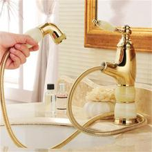 hdm accesorios de bao grifos del lavabo de mrmol jade pull out grifo mezclador monomando de lavabo grifo de agua caliente y fra accesorios de bao