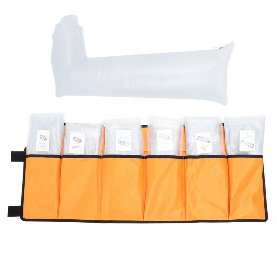 Image 2 - 7pcs Leg Arm Inflatable Air Splint Set Outdoor Camping First Aid Emergency Kit Arm Air Splint-in Braces & Supports from Beauty & Health