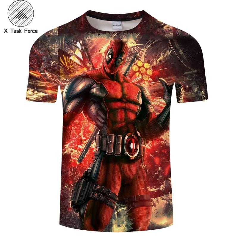 2019 summer Deadpool 3D Print t shirt Men Women tshirt Summer Casual Short Sleeve O-neck Tops&Tee Streetwear Comic Drop Ship 6XL