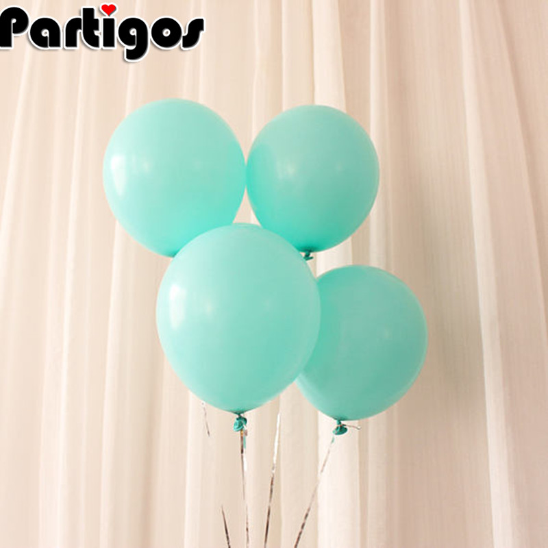 30pcs 12inch 3.2g Mint Green Blue Balloons Peach White Mint Latex Balloons Wedding Baby Shower Birthday Party Decoration Supply
