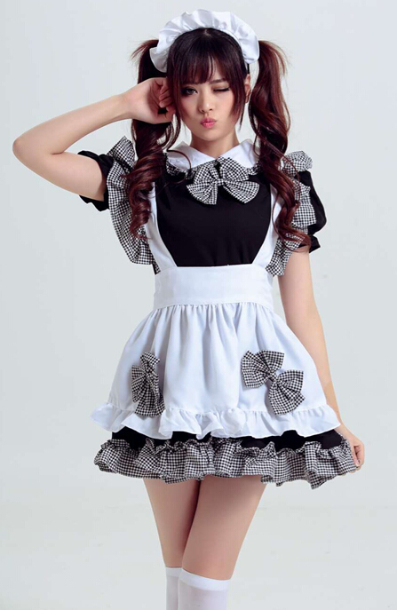 UTMEON-New Black Sexy Party Halloween Lolita Fancy  Dress For Servant Women Adult Maid Uniform Cosplay French Maid Costumes