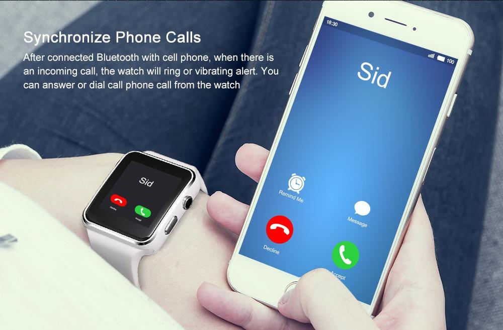 Новое поступление X6 Смарт часы с Камера Сенсорный экран Поддержка sim-карта TF Bluetooth умные часы для IPhone Xiaomi телефона Android