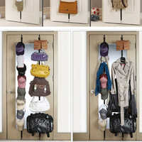 Adjustable Hanging Straps Over Door Towel Coat Clothes Hat Bag Rack Holder Organizer Rated With 16 Hook