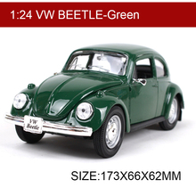Maisto VW Beetle Green 1:24 Alloy Model Metal Racing Vehicle Play Collectible Models Sport Cars toys For Gift