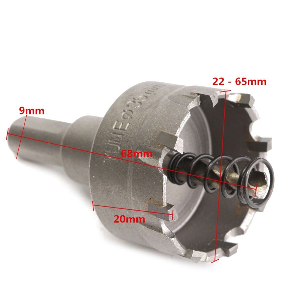 6x 22 65m Carbide Tip TCT Drill Bit Hole Saw Metal Alloy Stainless Steel Cutter in Power Tool Accessories from Tools