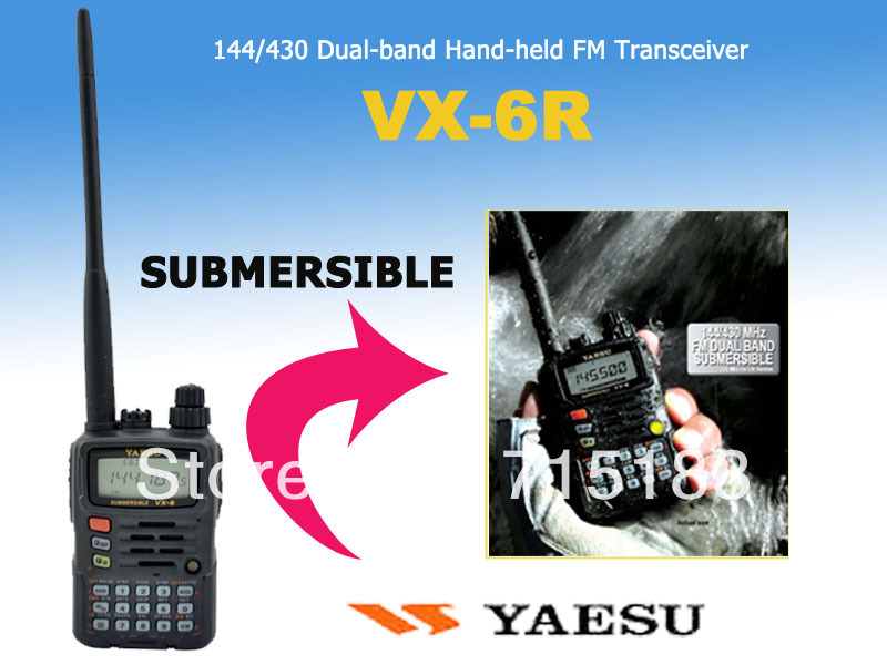 yaesu vx - 6r 144 / 430 mhz sommergibile dual band 5 w fm transceiver 100% nuovo originale yaesu vx 6r due way radioyaesu vx - 6r 144 / 430 mhz sommergibile dual band 5 w fm transceiver 100% nuovo originale yaesu vx 6r due way radio