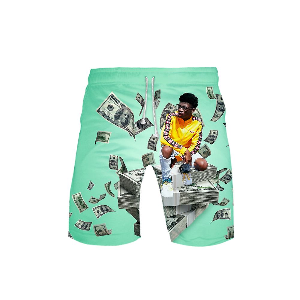 Rapper Lil Nas X Beach Board Shorts 3D Men's Summer Leisure Shorts Hot Student Favorite Cool Pants