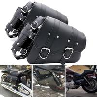 2pcs Universal Motorcycle Saddle bag Tool Luggage Bag For Honda Yamaha Suzuki Kawasaki Harley Bobber Custom Chopper Cruisers