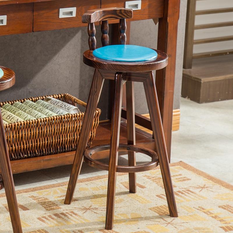 Купить с кэшбэком Sandalyesi Kruk Barstool Sgabello Sedie Stoelen Table Barkrukken Taburete Leather Tabouret De Moderne Silla Cadeira Bar Chair