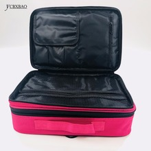 Suitcases Multi-storey Large Professional Cosmetic Case Nail Pattern Semi-perman