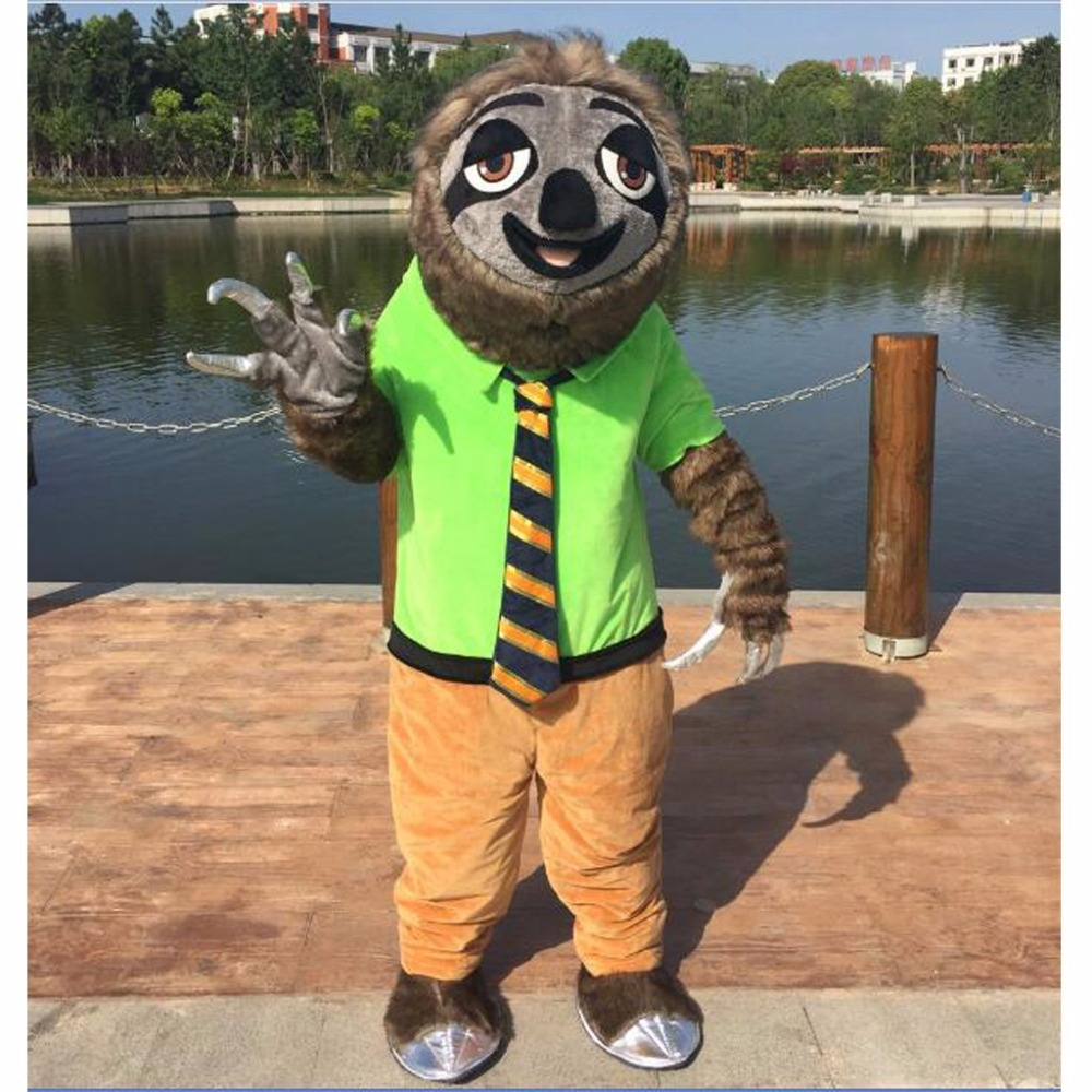 Cosplaydiy Zootopia Folivora Sloth Manager Flash Mascot Costume Zootopia  Plush Unisex Mascot Costume Custom Made L0516-in Mascot from Novelty    Special Use ... 288d3beaf8