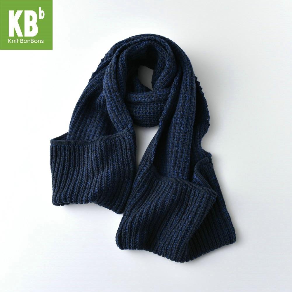 2018 KBB Printemps Unisexe Femmes Hommes Knit Chaud Adulte Mode Bleu Fil Tricoté  Hiver Écharpe Foulards Cou Wrap Couverture d27cebe9a97