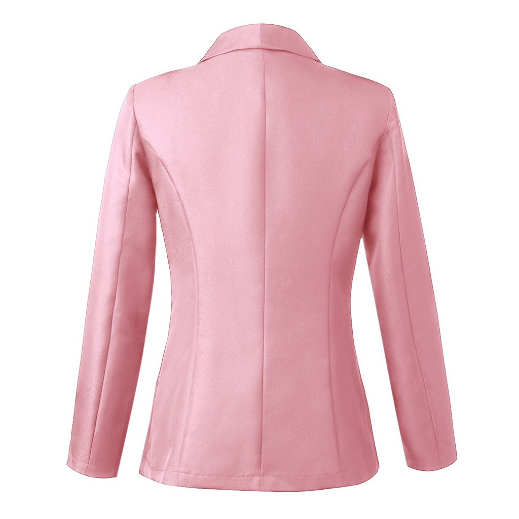 HTB1yuJraUY1gK0jSZFCq6AwqXXaA 30#Feminino Women White Long Sleeve Open Front Cardigan Suit Jacket Work Office Knit
