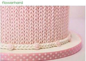21x12 см силиконовая форма для вязания, 3D форма для помадки, инструменты для украшения торта, пэчворк, торт на день рождения