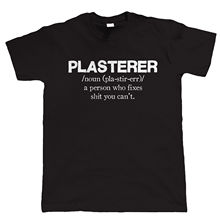 Plasterer Mens Funny T Shirt - Gift for Dad Tops Tee New Unisex High Quality Casual Printing