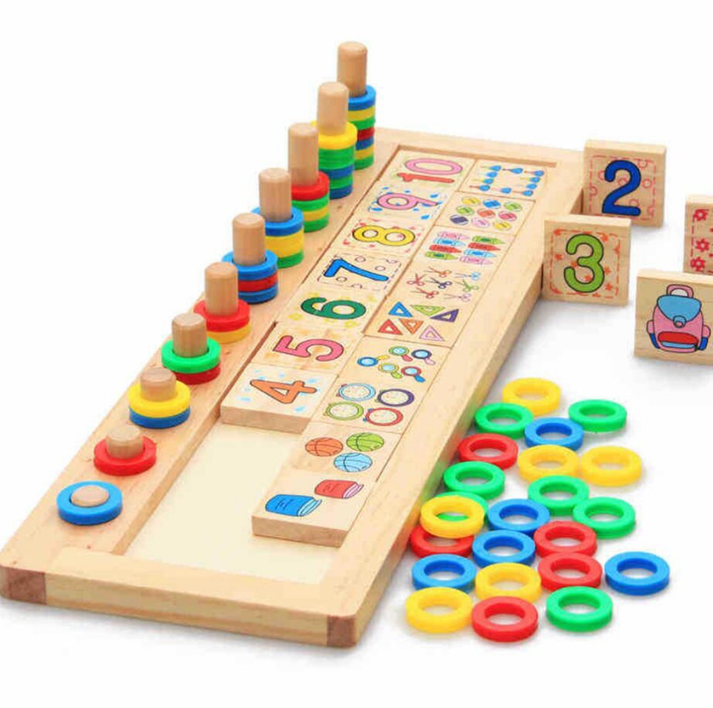 1 SET New Arrival Baby Toys Montessori Wooden Educational Blocks Baby Early Learning Teaching Set Math Shapes Cognition baby plastic intelligence sticks educational building blocks toys handmade diy montessori lepin early learning gifts 120pcs