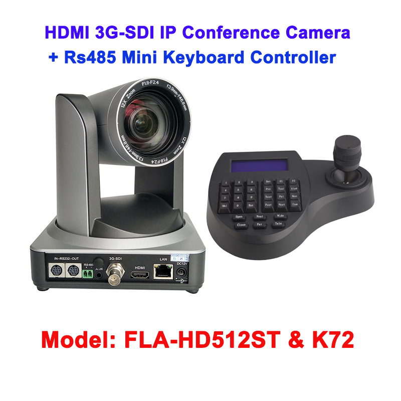 12X 3G-SDI PTZ 1080p Video Conference Camera joystick kit with simultaneous HDMI and IP Streaming 2mp 1080p60 50 ptz ip streaming onvif poe camera visca pelco 20x optical zoom tripod with simultaneous hdmi and 3g sdi outputs