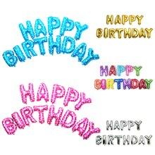 40 см С Днем Рождения Письма Воздушные Шары Алюминиевой Фольги Воздушный Шар Гелия Баллонов для День Рождения Свадьба Декор