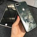 Front + back alta calidad de cristal templado película del protector de la cubierta completa espejo protector de pantalla para iphone 7 6 colorful 6 s plus 4.7 ''5''