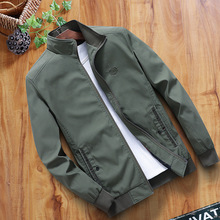 лучшая цена High Quality Autumn Bomber Jacket Men Spring Male Black Slim Jackets Brand Coat Man Zipper Flight Jacket Fashion Plus Size 4XL
