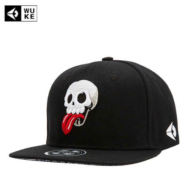 WUKE  Brand New Hip Hop Snapback Cap Hats Skull Adjustable Baseball Cap  For Men Women Casquette Gorras Planas Bone Masculino 8f99b63aed7