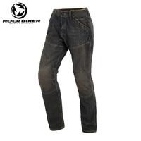 Rock Biker Loose Cotton Denim Jeans Motorcycle Trousers Pantalon Moto Hombre Equipamento Motocross Racing Pants With Kevlar