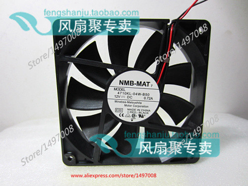 NMB-MAT 4710KL-04W-B50, E00 DC 12V 0.72A, 120x120x25mm   Server Square  fan nmb mat 3110kl 04w b49 b02 b01 dc 12v 0 26a 3 wire server square fan