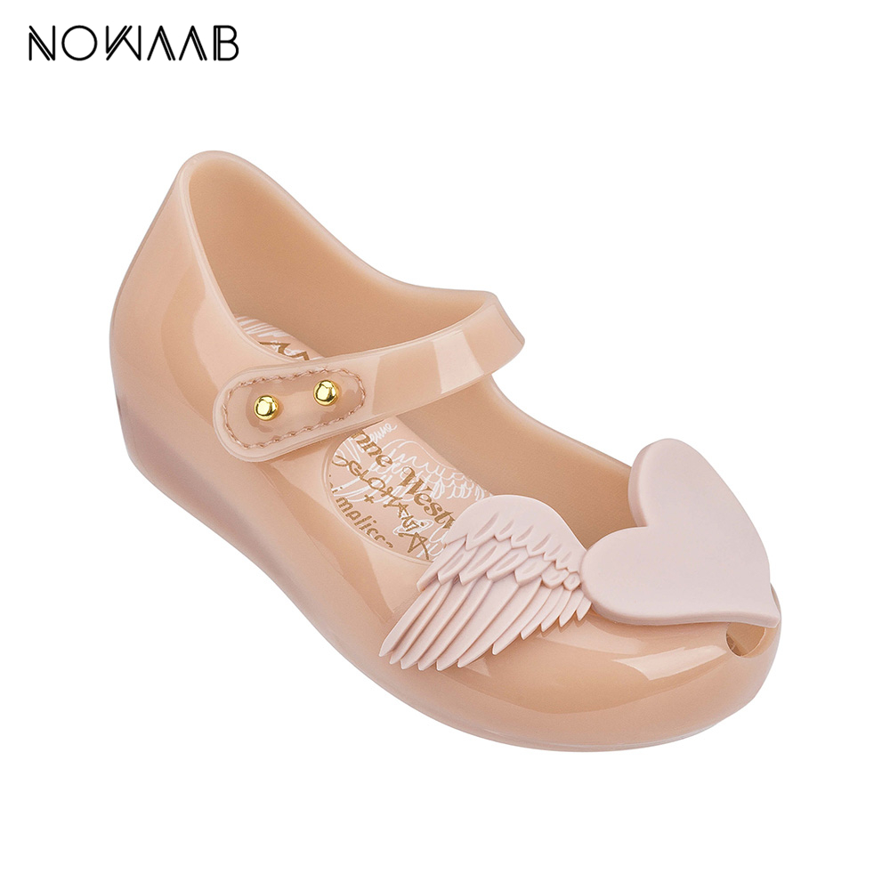 Mini Melissa Love Wings 2019 New Summer Girl Jelly Shoes Girls Non slip Sandals Melissa Kids Beach Sandal Toddler S