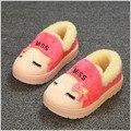 Новый стиль дети обувь дети тапочки милый мультфильм девушки тапочки дети теплый хлопок мальчики тапочки зимняя обувь мальчиков обувь для девочек