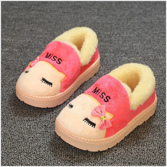 New style kids shoes kids slippers cute cartoon girls slippers children warm cotton boys slippers winter shoes boys girls shoes