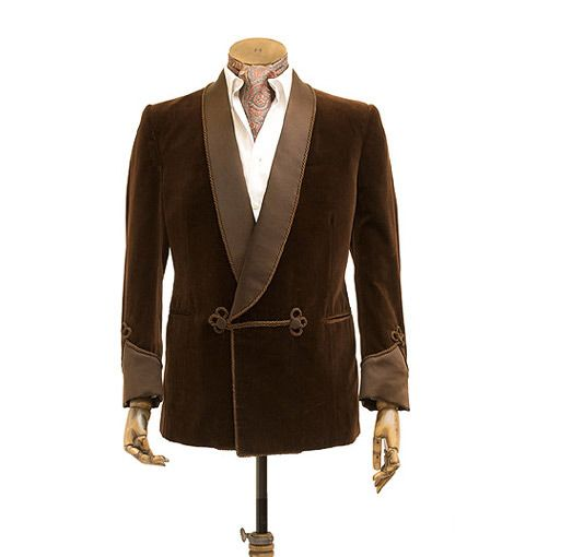 Fumer De Blazer Image Et Costume Smoking Châle Fumeurs Revers Same Poitrine Bal Robe Pantalon Veste Partie custom Hommes Unique Velours As Brun Mariage Color nwP0Ok
