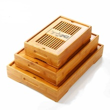 1PC 3 Size Kung Fu Tea Set Natural Bamboo Tray cultural Traditional Puer Table Hot sale W0044