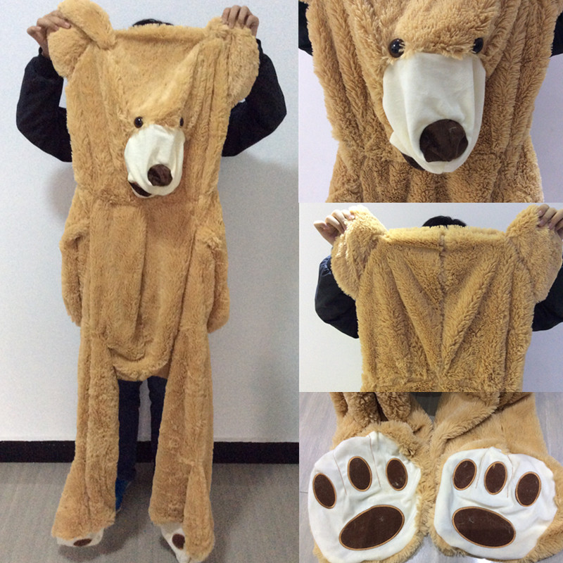 16813be17de 200cm christmas Plush toys New Teddy bear skin Giant Luxury Plush Extra  Large Teddy Bear cost Dark Brown Light Brown-in Stuffed   Plush Animals  from Toys ...