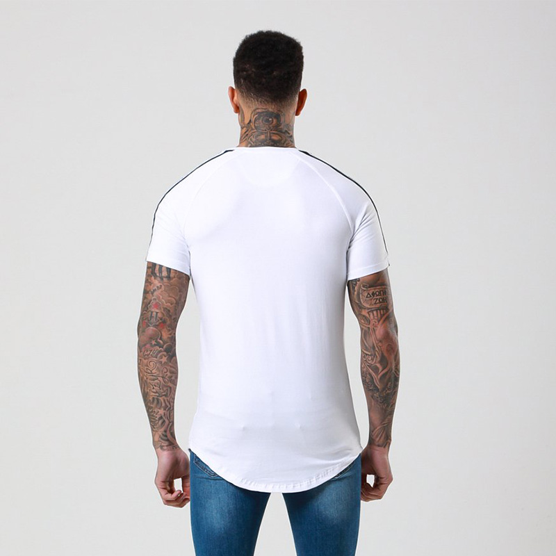 New Fashion Printed Gyms T-shirt Men Bodybuilding Fitness Short Sleeve Casual Cotton T shirts Slim Tee Top Male Workout Clothing