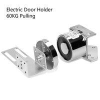 Automatic Door Sucker Lock 12v 24v DC Electromagnet Door Stopper Magnetic Force Lock Electromagnet Electric Door Holder