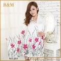 Осенью и весной шарф женщин мода долго цветок печатных шарфы дамы палантины теплые шали хиджаб для женщин